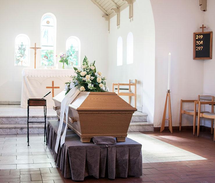 begravning kyrka