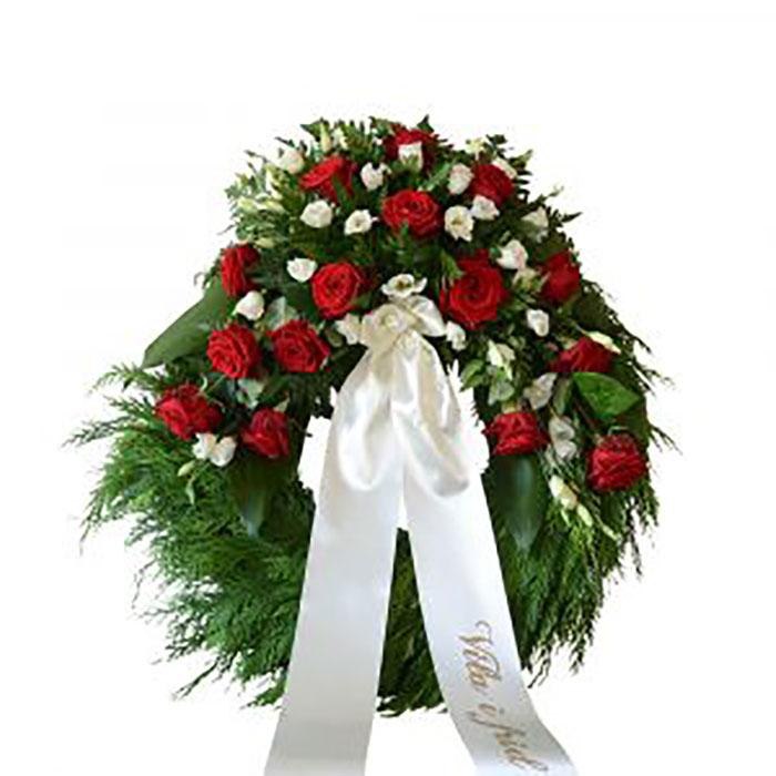 skriva på begravningsband