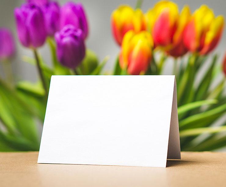 tackkort vid begravning